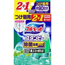 Kobayashi Bluelet stampy super mint, 28г*3ш Очиститель для туалетов с ароматом мяты з/б
