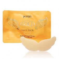 Petitfee Gold neck pack, 10г Патч гидрогелевый для области шеи c золотом