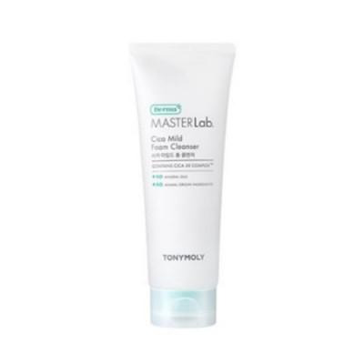 Tony Moly Derma masterlab cica mild foam cleanser, 150мл Пенка для чувствительной кожи лица