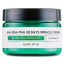 Some By Mi AHA-BHA-PHA 30Days miracle cream, 60г Крем с 3 видами кислот и центеллой