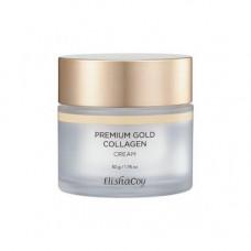 ElishaCoy Premium gold collagen cream, 50мл Крем антивозрастной с коллагеном и золотом