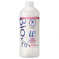 KAO Biore u foaming body wash pure savon, 450мл Мыло пенка для душа с букетным ароматом з/б