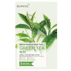 Eunyul Natural moisture mask pack green tea, 22г Маска тканевая с экстрактом зеленого чая