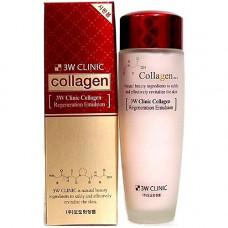 3W Clinic Collagen regeneration emulsion, 150мл Эмульсия для лица лифтинг с коллагеном