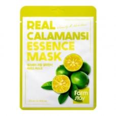 FarmStay Real calamansi essence mask, 23мл Маска тканевая для лица с экстрактом каламанси