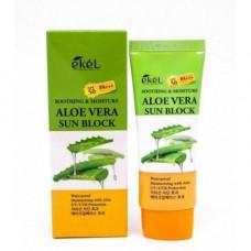 Ekel Aloe vera sun block SPF 50/PA+++, 70мл Крем для лица и тела солнцезащитный с экстрактом алоэ
