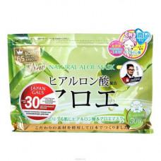 Japan Gals Face masks with aloe extract, 30шт Курс масок для лица с экстрактом алоэ