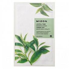Mizon Joyful time essence mask green tea, 23г Маска тканевая с экстрактом зелёного чая