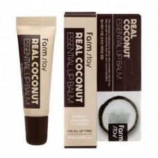 FarmStay Real coconut essential lip balm, 10мл Бальзам для губ с экстрактом кокоса