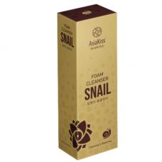 AsiaKiss Snail foam cleanser, 180мл Пенка для умывания с муцином улитки