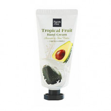 FarmStay Tropical fruit hand creamм, 50мл Крем для рук с авокадо и маслом ши