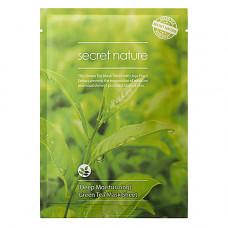 Secret Nature Green tea mask sheet, 25г Маска для лица увлажняющая с экстрактом зелёного