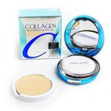 Enough Collagen hydro moisture cake spf25pa++, 13г Пудра для лица с коллагеном и запаской «тон 23»