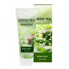 3W Clinic Green tea moisture peeling gel, 180мл Гель пилинг увлажняющий с экстрактом зеленого чая