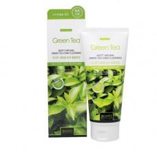 Jigott Natural green tea foam cleansing, 180мл Пенка очищающая с экстрактом зелёного чая