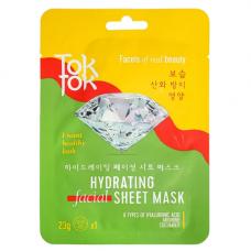 TokTok Hydrating facial sheet mask, 23мл Маска тканевая для лица увлажняющая