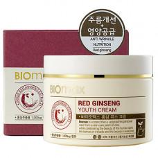 BioMax Red ginseng youth cream, 100мл Крем для молодости кожи с экстрактом красного женьшеня