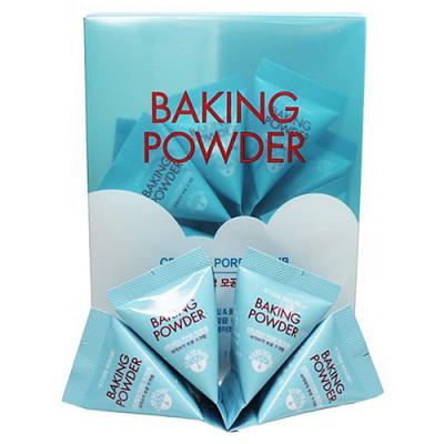 Etude House Baking powder crunch pore scrub, 24шт Скраб для лица с содой в пирамидках