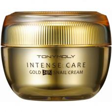 Tony Moly Gold 24k snail cream, 45мл Крем с муцином улитки и золотом для лица