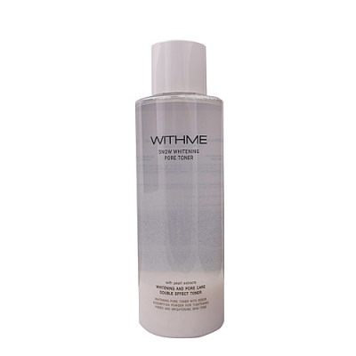 Withme Snow whitening pore toner, 500мл Тонер для лица осветляющий