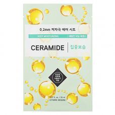 Etude House Therapy air mask ceramide deep moisturizing, 20мл Маска для лица тканевая с керамидами