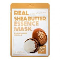 FarmStay Real shea butter essence mask, 23мл Маска тканевая для лица с маслом ши