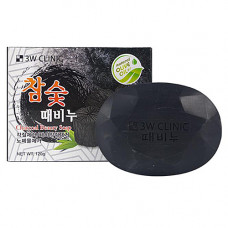 3W Clinic Soap for face and body with bamboo charco, 150г Мыло для лица и тела с бамбуковым углём