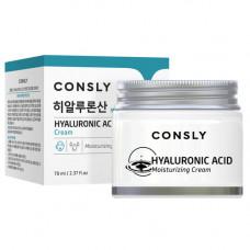 Consly Hyaluronic acid moisturizing cream, 70мл Крем для лица увлажняющий с гиалуроновой кислотой