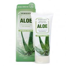 Jigott Pure clean peel off pack aloe, 180мл Маска пленка для лица с экстрактом алоэ вера