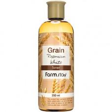 FarmStay Grain premium white toner, 350мл Тонер с экстрактом ростков пшеницы