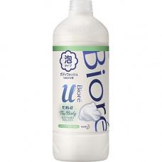 KAO Biore u body wash pure savon, 450мл Крем пенка для душа с ароматом целебных трав з/б