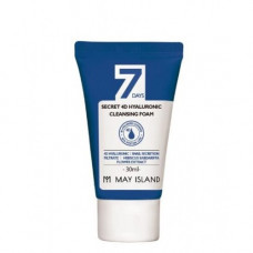 May Island 7 Days secret 4d hyaluronic cleansing foam, 30мл Пенка с гиалуроновой кислотой
