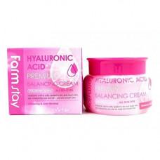 FarmStay Hyaluronic acid premium balancing cream, 100г Крем для лица с гиалуроновой кислотой