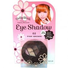 Koji Dolly wink eye shadow, 1шт Тени для век 4х цветные «тон №02 розовый и коричневый»