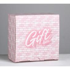 Коробка складная - Gift box, 15*15*7см