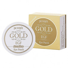 Petitfee Hydro gel eye patch gold & egf eye, 60шт Патчи гидрогелевые для глаз с золотом и EGF