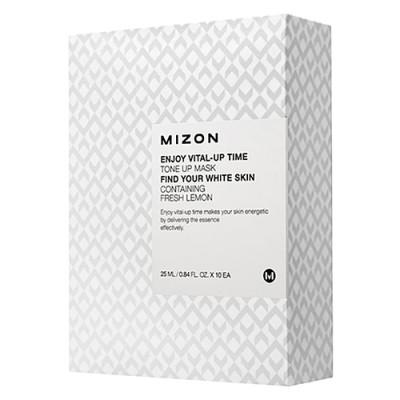 Mizon Enjoy vital up time tone up mask, 30мл Маска для лица тканевая осветляющая