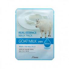 Juno Goat milk real essence mask pack, 25мл Маска тканевая с экстрактом козьего молока
