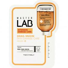 Tony Moly Master lab snail mucin mask, 19мл Маска тканевая для лица с улиточным муцином