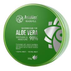 AsiaKiss Soothing gel aloe vera, 300мл Гель для лица и тела увлажняющий и успокаивающий с алоэ