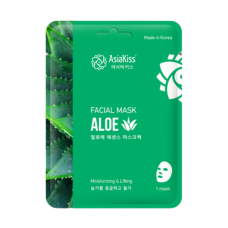 AsiaKiss Aloe essence facial mask, 25г Маска тканевая для лица с экстрактом алое