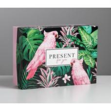 Коробка складная - «Тропики», 21*15*7см