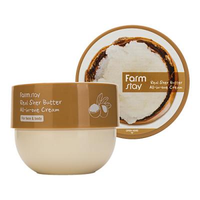 FarmStay Real sher all-in-one cream, 300мл Крем многофункциональный с маслом ши