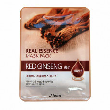 Juno Real essence mask pack red ginseng, 25мл Маска тканевая с красным женьшенем