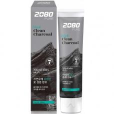 KeraSys Dental clinic 2080 black clean charcoal, 120г Зубная паста с углем «отбеливание»