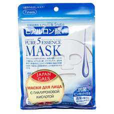 Japan Gals Hyaluronic acid mask, 1шт Маска с гиалуроновой кислотой