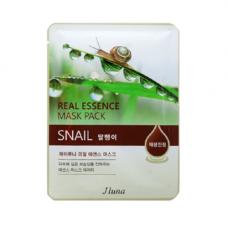 Juno Real essence mask snail, 25мл Маска тканевая с муцином улитки