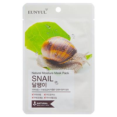 Eunyul Natural moisture mask pack snail, 22мл Маска тканевая с муцином улитки