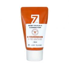 May Island 7 Days secret vita plus-10 cleansing foam, 30мл Пенка для умывания витаминная