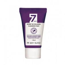 May Island 7 Days secret 4d collagen cleansing foam, 30мл Пенка с коллагеном